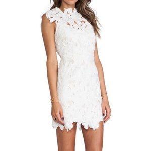 Dolce Vita Jayleen white lace mini dress in XS